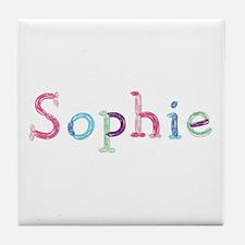 Sophie Princess Balloons Tile Coaster