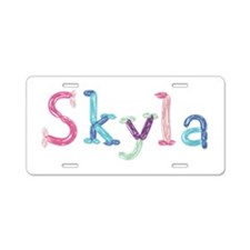 Skyla Princess Balloons Aluminum License Plate