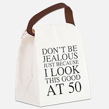 50th Birthday Jealous Canvas Lunch Bag