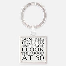 50th Birthday Jealous Square Keychain
