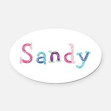 Sandy Princess Balloons Oval Car Magnet