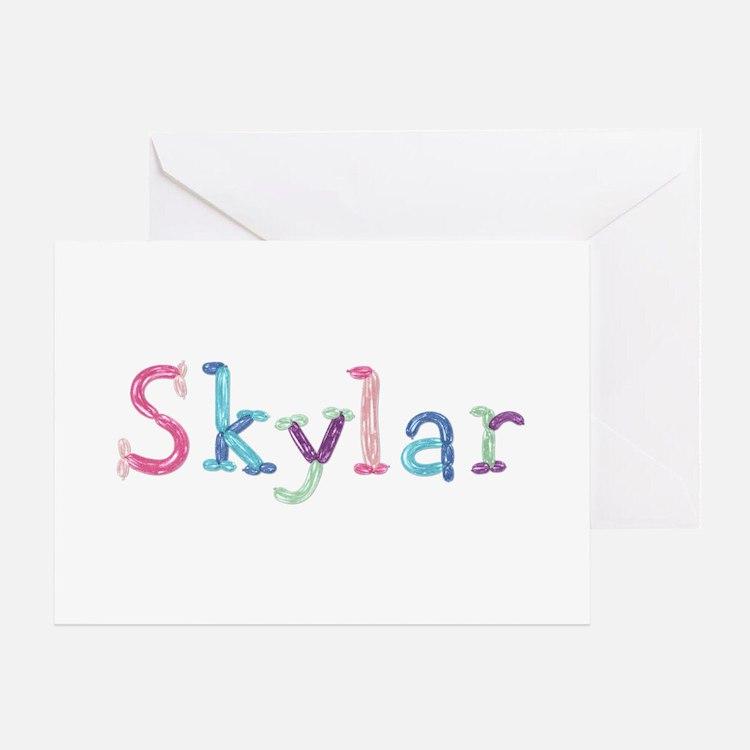 Skylar Princess Balloons Greeting Card