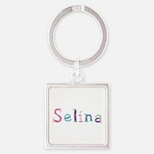 Selina Princess Balloons Square Keychain