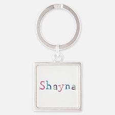 Shayna Princess Balloons Square Keychain