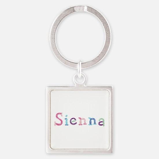 Sienna Princess Balloons Square Keychain