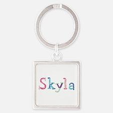Skyla Princess Balloons Square Keychain