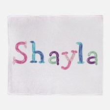 Shayla Princess Balloons Throw Blanket