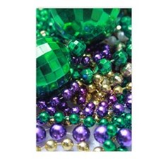 Mardi Gras Party Beads Postcards (Package of 8)