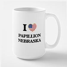 I love Papillion Nebraska Mugs