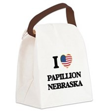 I love Papillion Nebraska Canvas Lunch Bag