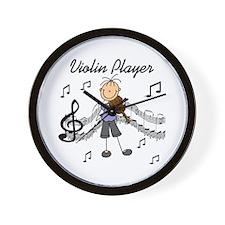 Violin Player Wall Clock