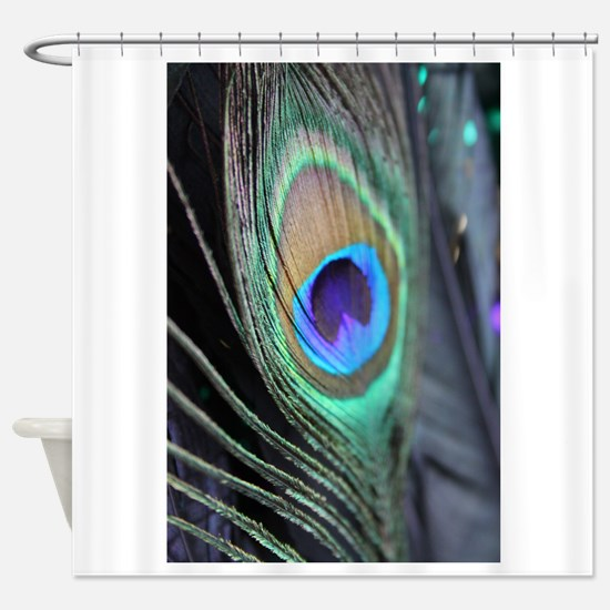 Peacock Feather Bright Shower Curtain