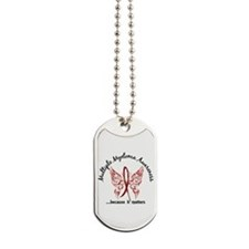 Multiple Myeloma Butterfly 6.1 Dog Tags for
