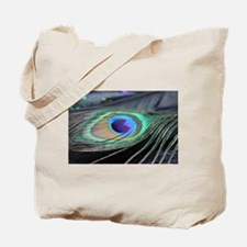Peacock Feather Bright Tote Bag