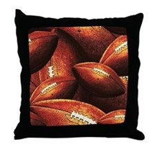 Vintage Footballs Throw Pillow