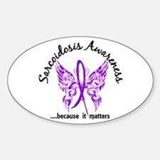 Sarcoidosis Butterfly 6.1 Sticker (Oval 10 pk)