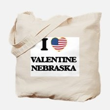 I love Valentine Nebraska Tote Bag