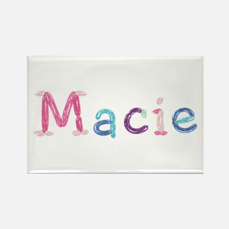 Macie Princess Balloons Rectangle Magnet