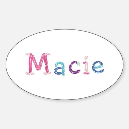 Macie Princess Balloons Oval Decal