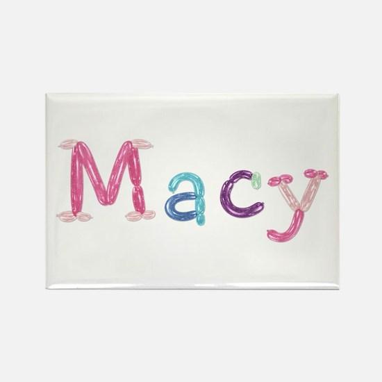 Macy Princess Balloons Rectangle Magnet