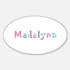 Madalynn Princess Balloons Oval Decal