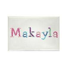 Makayla Princess Balloons Rectangle Magnet