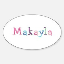 Makayla Princess Balloons Oval Decal