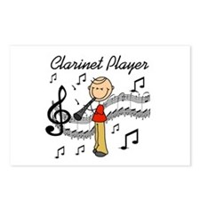 Clarinet Player Postcards (Package of 8)