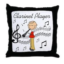 Clarinet Player Throw Pillow