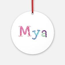 Mya Princess Balloons Round Ornament