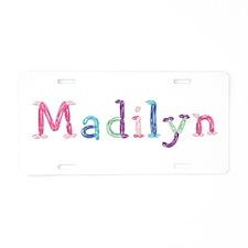 Madilyn Princess Balloons Aluminum License Plate