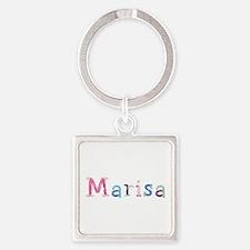 Marisa Princess Balloons Square Keychain