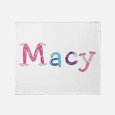 Macy Princess Balloons Throw Blanket