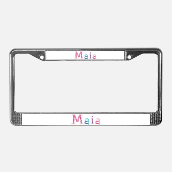 Maia Princess Balloons License Plate Frame
