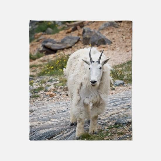 Mountain Goat Throw Blanket