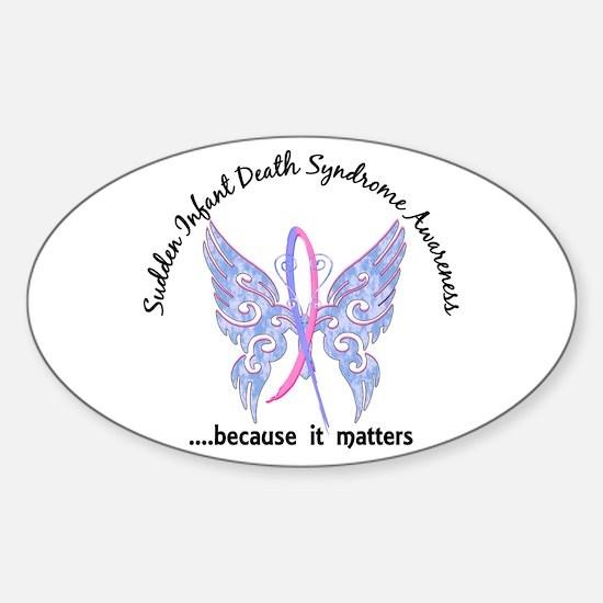 SIDS Butterfly 6.1 Sticker (Oval)