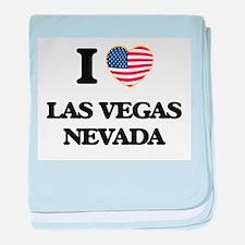 I love Las Vegas Nevada baby blanket