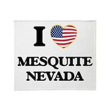 I love Mesquite Nevada Throw Blanket