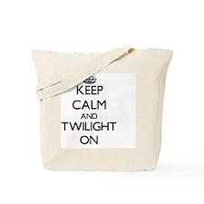Keep Calm and Twilight ON Tote Bag