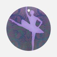 Purple Ballerina Ornament (Round)