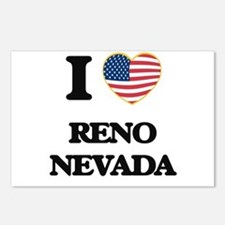 I love Reno Nevada Postcards (Package of 8)