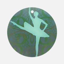 Green Ballerina Ornament (Round)