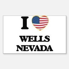 I love Wells Nevada Decal