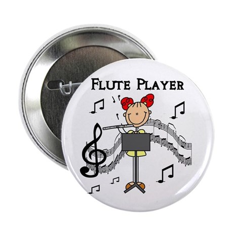 """Flute Player 2.25"""" Button (100 pack)"""