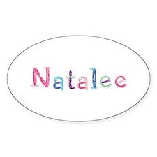 Natalee Princess Balloons Oval Decal