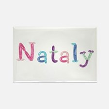 Nataly Princess Balloons Rectangle Magnet
