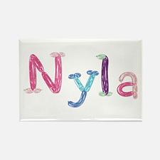 Nyla Princess Balloons Rectangle Magnet