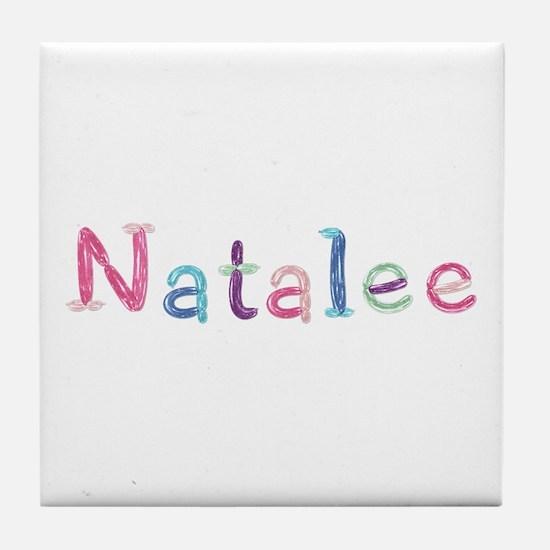 Natalee Princess Balloons Tile Coaster