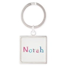 Norah Princess Balloons Square Keychain
