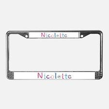 Nicolette Princess Balloons License Plate Frame